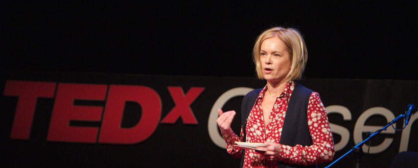 Mariella Frostrup speaking at TEDxObserver 2011. Photo © Sam Friedrich/acumenimages.com