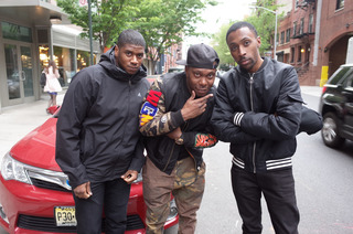 Dizzee Rascal with Elijah and partner Skilliam for their New York R BMA Radio show