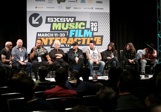 SXSW 2016 panel – Hired Guns with Steve Rogers. Getty Images.