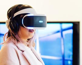 VR at Reframed Talks, April 2017. Photo: Zoe Manders