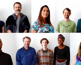 From top to bottom, left to right: Rachel Henson and Neil Manuell, Harmeet Chagger-Khan, Tom Bowtell and Elliot Hall, Steven Eastwood, George Butler, Szymon Wyrzykowski and Olivia Madume, and Dee Harvey. Photo: Aleida Strowger.