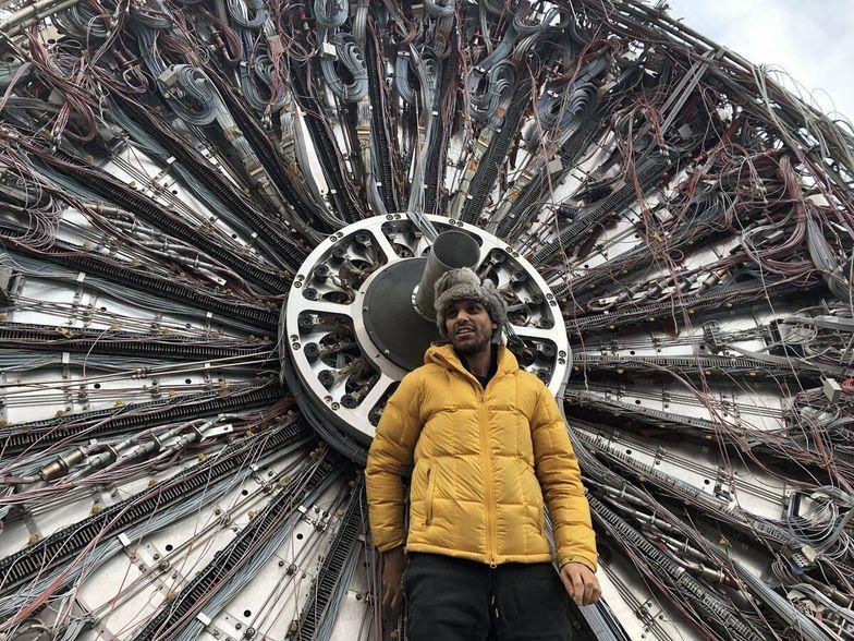 Haroon Merza at CERN