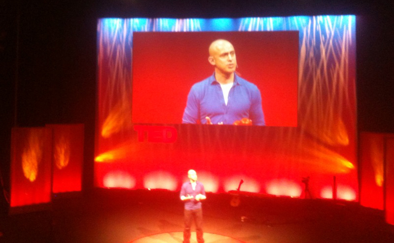 Andy Puddicombe speaking at the TED Salon, 10 May 2012, London. 