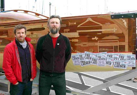 Gregg Whelan (left) and Gary Winters (right), of Lone Twin, the artists who made The Boat Project