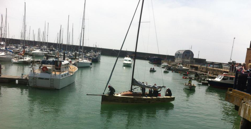 The Boat Project arrives at Brighton Marina. Image: Sue Gollifer