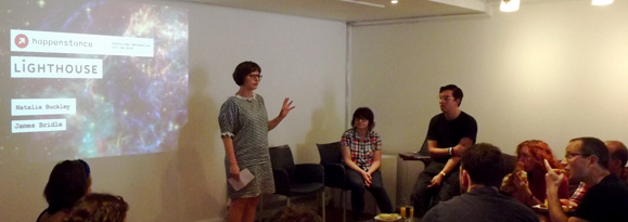 Rachel Coldicutt from Caper introduces the Happenstance Open House on 23rd May 2012
