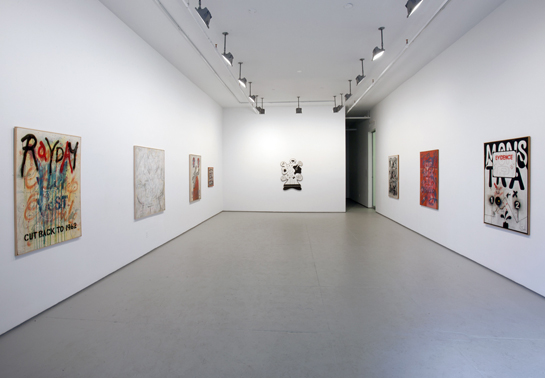 Jeff Keen's artwork on show at Elizabeth Dee Gallery, New York, 2012
