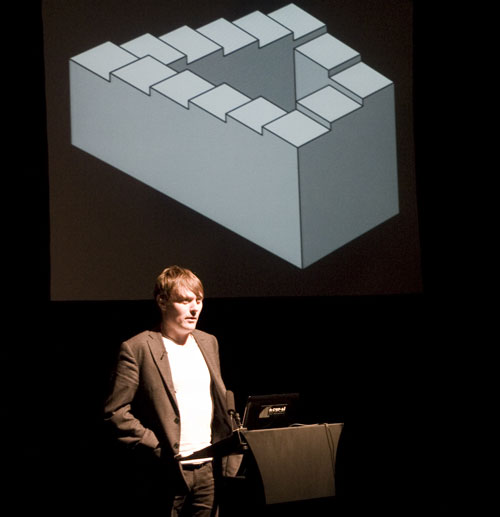 Julian Oliver at the Improving Reality Conference, Brighton Digital Festival 2011