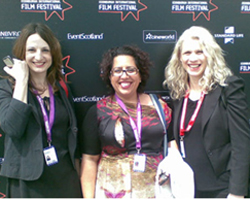 Hajdana Baletic, Tina Gharavi, Duska Zagorac at Edinburgh International Film Festival