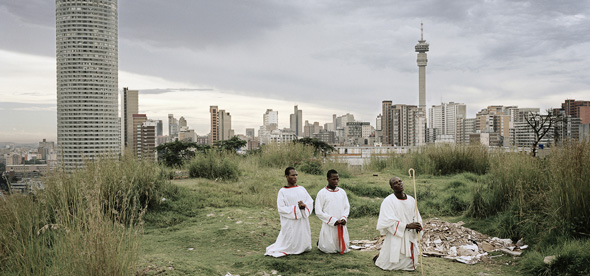 Image © Mikhael Subotzky/Magnum Photos.   SOUTH AFRICA. Ponte City from Yeoville Ridge, Johannesburg, 2008