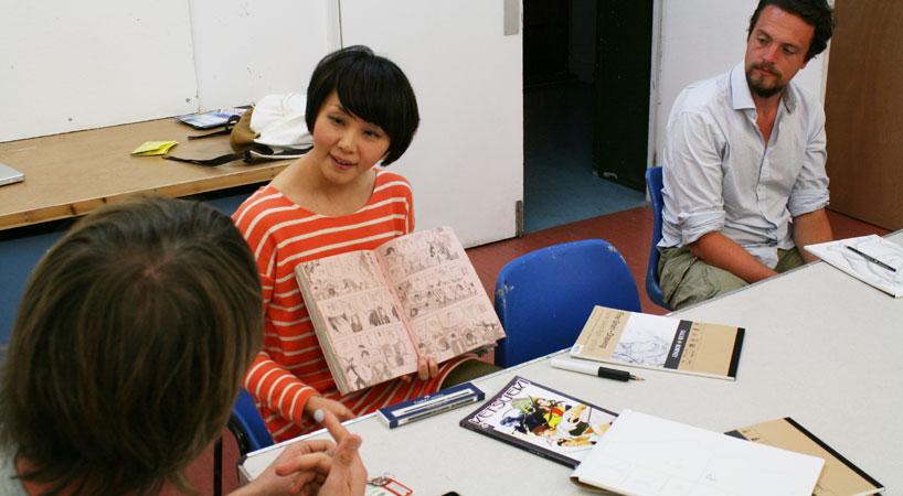 Inko at the Manga Workshop. Photo (c) Emilie Giles