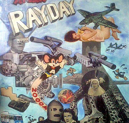 Amazing Rayday (circa 1960). Hand-coloured paper collage with watercolor and gouache © Jeff Keen