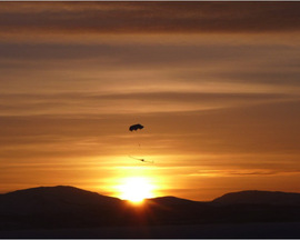 C-Astral Bramor UAV during landing, Kilpisjaervi, Lapland, November 2012, courtesy of Marko Peljhan
