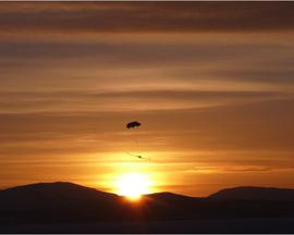 C-Astral Bramor UAV during landing, Kilpisjaervi, Lapland, November 2012, courtesy of Marko Peljhan