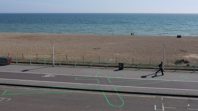 Under the Shadow of the Drone by James Bridle, Brighton seafront. Photo: Roberta Mataityte