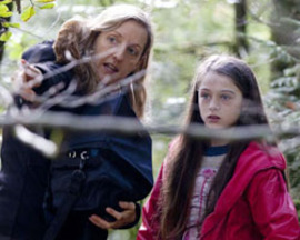 The Beast – director Corinna Faith with Raffey Cassidy, photo by Belinda Lawley