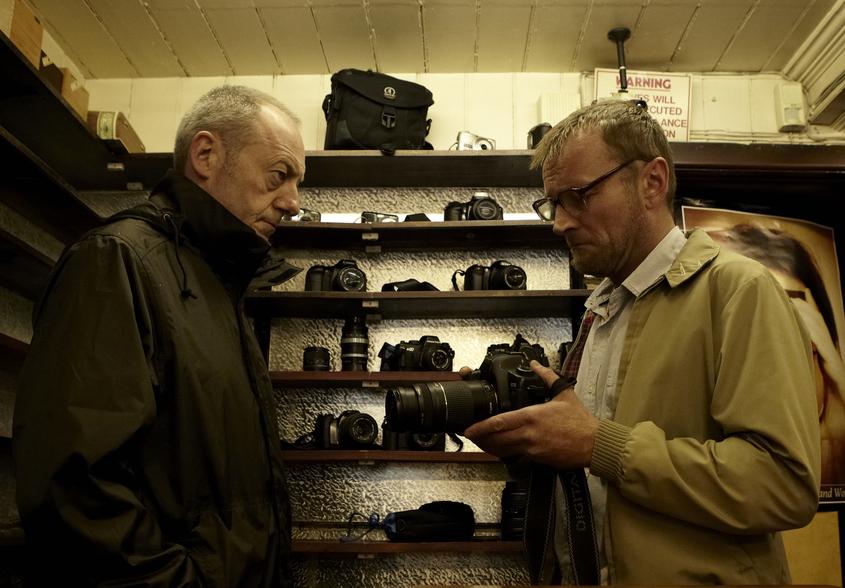 SLR - Elliot (Liam Cunningham) talks to Verma (Richard Dormer), photo by Aidan Monaghan