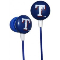 Photo of Officially Licensed MLB Printed Earbuds Texas Rangers