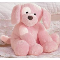photo of Spunky Motion and Musical Pink Dog Gund 058497 Rock a Bye Baby