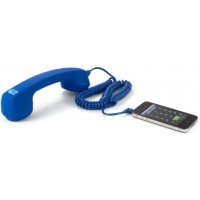 Photo of Echo Logico Soft Touch Retro Handset In Royal Blue