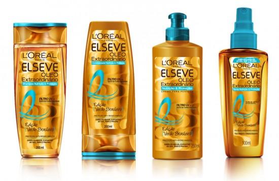 Vem ver os produtos que a gente selecionou pra você cuidar dos cabelos no verão! Na foto: Linha Elseve Verão Brasileiro, da L'Oréal Paris, contém filtro UV e protege, hidrata e nutre os cabelos secos expostos ao sol, mar e piscina. Da esq. pra dir.: xampu (R$ 7,99), condicionador (R$ 9,99), creme pra pentear (R$ 10,99) e spray (R$ 30,99)