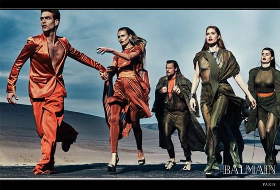 Grande elenco: Jon Kortajarena, Natasha Poly, Gabriel Aubry, Doutzen Kroes e Isabeli Fontana! Vem ver mais da nova campanha da Balmain