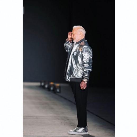 Buzz Aldrin, o segundo homem a pisar na Lua, na passarela de outono-inverno 2017/18 de Nick Graham!