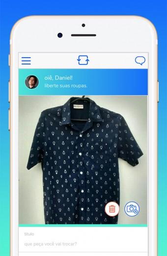 Conheça o Roupa Livre App, um aplicativo de troca de roupas! Você começa cadastrando suas peças...