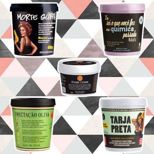 Os produtos de alta hidratação da Lola Cosmetics são liberados pra low e no poo! Na ordem estão os cremes Morte Súbita (R$ 70,06), Eu Sei o Que Você Fez na Química Passada (R$ 42,92), Dream Cream (R$ 32,41), Umectação Oliva (R$ 49,61) e Tarja Preta (R$ 41,03) - clica na foto pra ver mais!