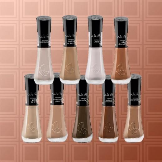 Vários tons de nude pra vários tons de pele - esses são da Vult! (R$ 6,60 cada). Clica pra ver mais!