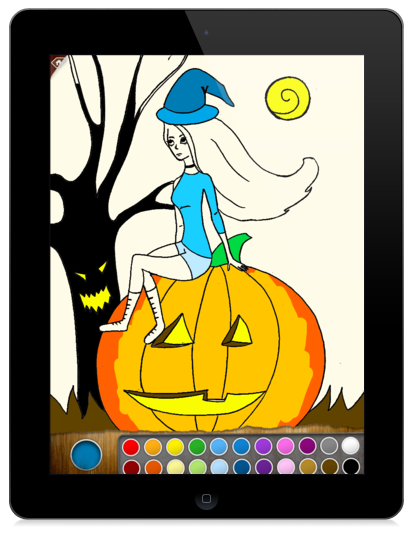 Scary Colors Coloring Book App For IPad