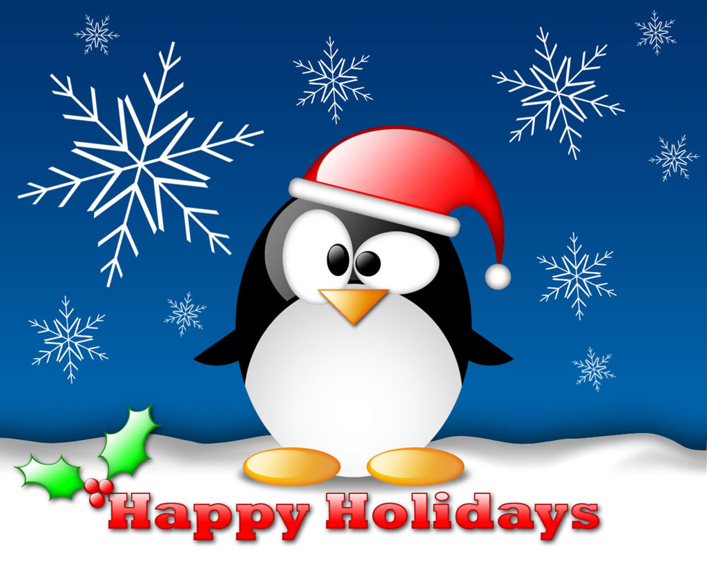 tux linux christmas wallpaper