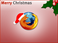 linux firefox christmas wallpaper
