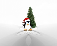 linux christmas wallpaper
