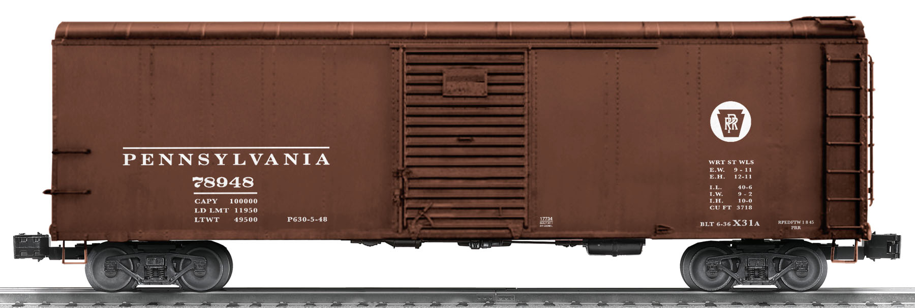 Pennsylvania X31A Round-roof Boxcar #78948 SKU: 6-17733