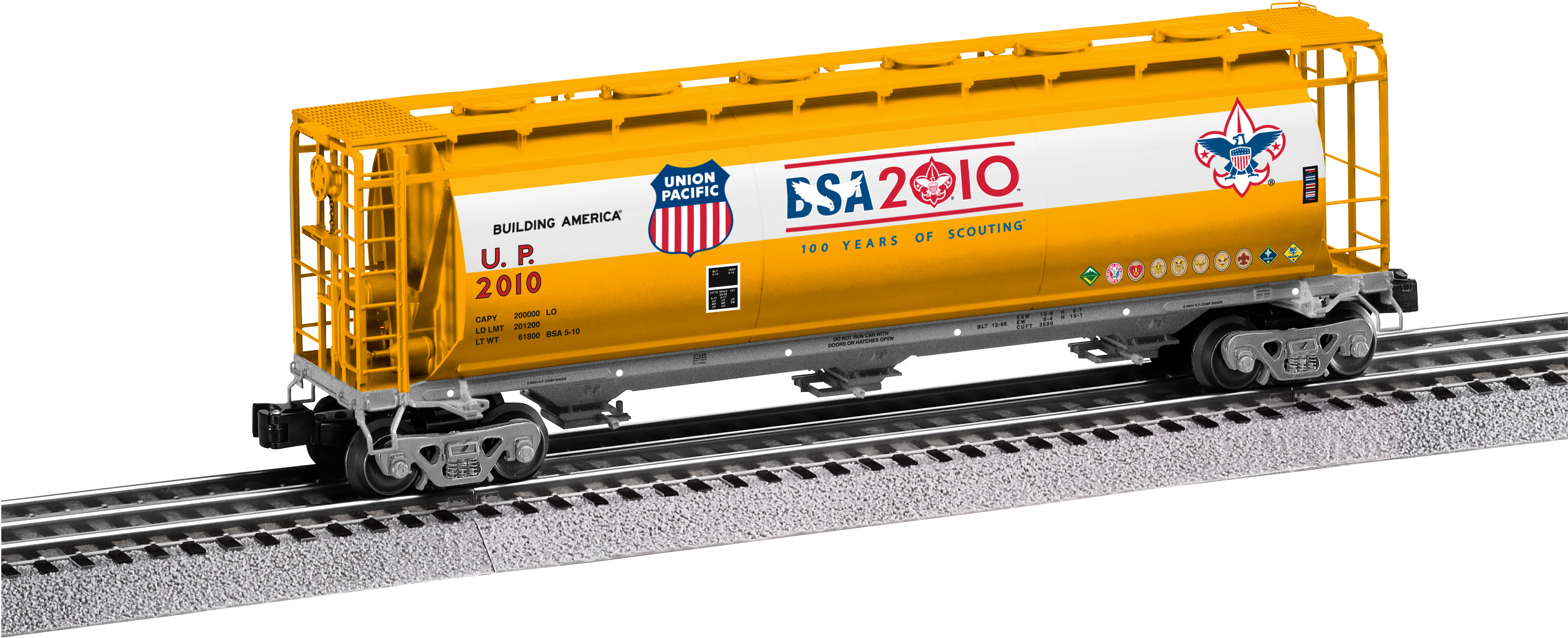 Union Pacific Boy Scouts Of America 3 Bay Cylindrical Hopper 2010