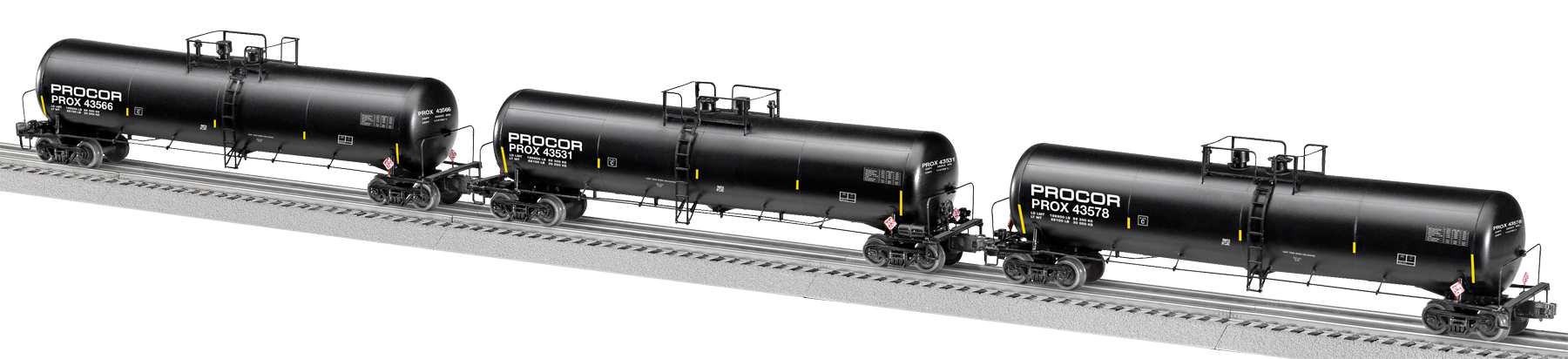 Procor Scale 30k Gallon Ethanol Tank Car 3 Pack