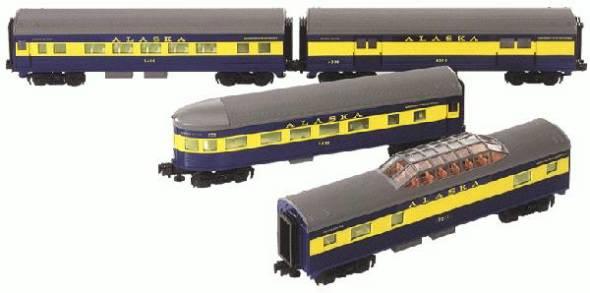Alaska Streamliner Passenger Car 4 Pack
