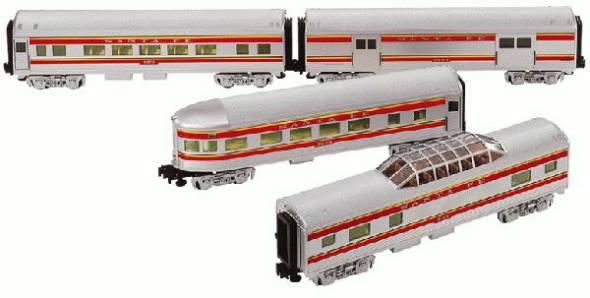 Santa Fe Steamliner Passenger Car 4 Pack