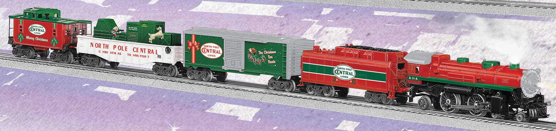North Pole Central Christmas Train (Conventional 4-4-2 Steam Loco ...