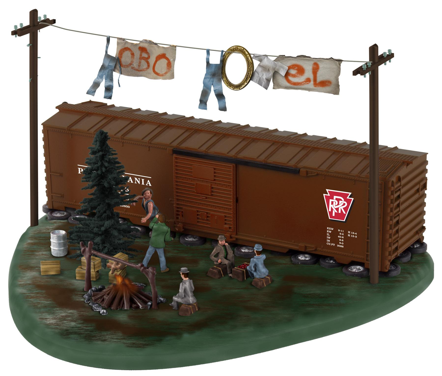 Lionel 637940 O PRR Railroad Hobo Hotel 434-637940