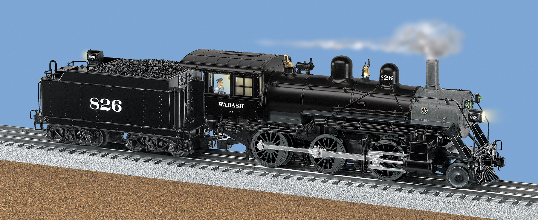 Wabash TMCC Scale 260 Mogul Steam Locomotive 826 – Lionel Legacy Wiring