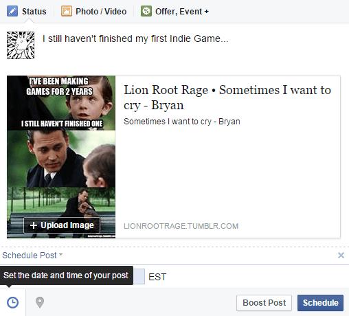 SocialMediaFacebookSchedule