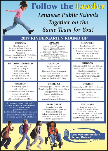 2017 Kindergarten Roundup Flyer