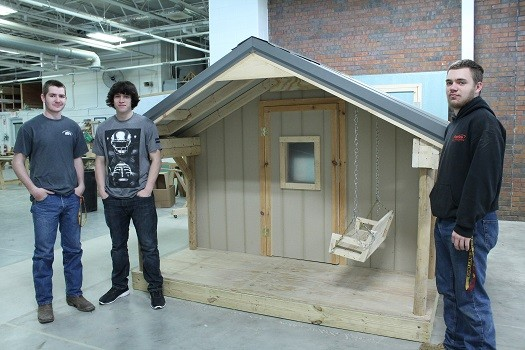 LISD TECH Center Building Trades Students Design and Construct a Children's Playhouse
