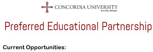 Concordia Preferred Education Partnership