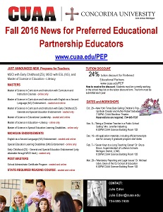 Fall News for Preferred Educational Partners thumb