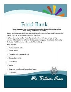 Staff Bulletin Board Food Bank Request