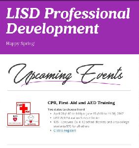 LISD PD Opportunities for Spring 2017