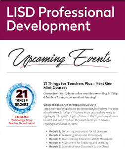 LISD PD Upcoming Events